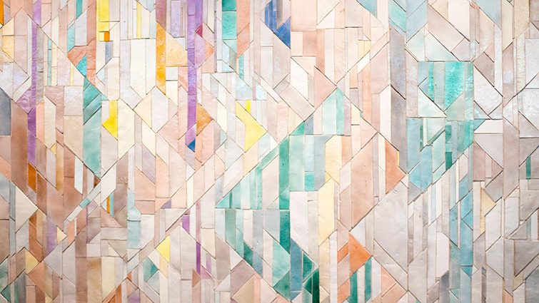 An abstract pattern with various colour.